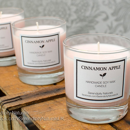 Cinnamon Apple Candle in a 240ml Glass
