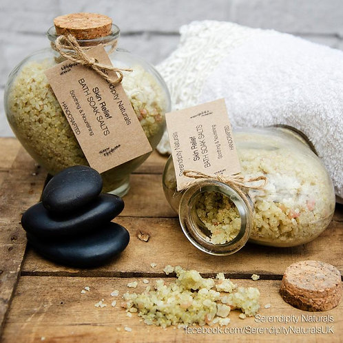 LUXURIOUS SKIN RELIEF Bath Soak Salts mixed with nourishing oils, butters, clays