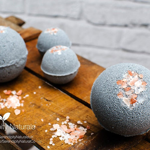 Activated Charcoal Bath Bombs Luxury Collection enriched with Organic oils