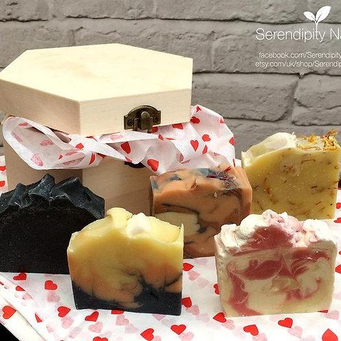Personalised Organic Lady Soaps Gift Box, Women's Gift Box, Birthday gift