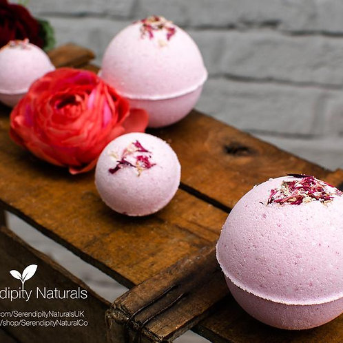 Rose Bath Bombs Luxury Collection enriched with Organic oils and butters, Vegan
