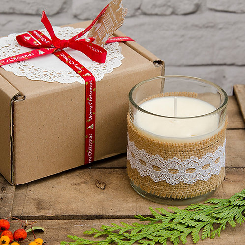 Vanilla Scented Candle in a 240ml Glass
