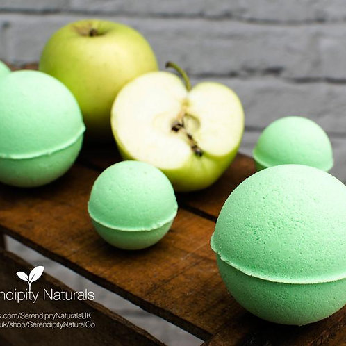 Green Apple Bath Bombs Luxury Collection enriched with Organic oils and butters,
