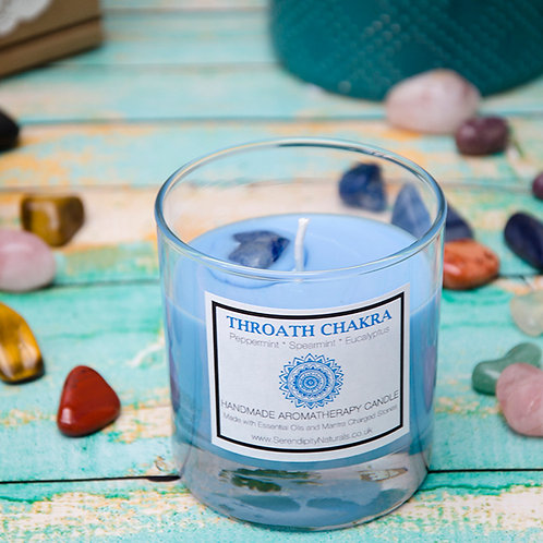 THROAT (Blue) CHAKRA Aromatherapy Candle