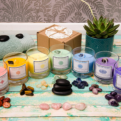 Complete SET of 7 Chakras Aromatherapy Candles