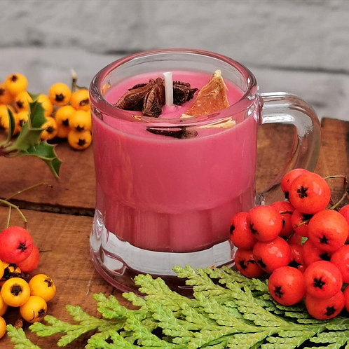 Mulled Wine Scented Candle in a mini glass 50ml