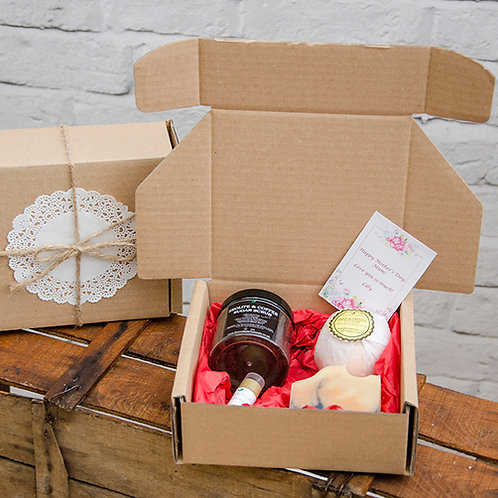 LUXURY FOR HER Mother's Day Gift Box - Includes Handmade Soaps, Candle, Lip Balm