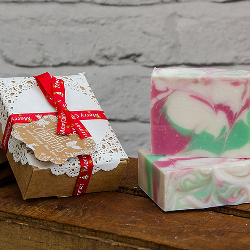 Christmas Carnival Handmade Soap, wrapped in Christmas Gift Box, Christmas Gift