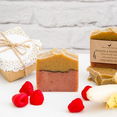BANANA & RASPBERRY All Natural Soap, Vegan