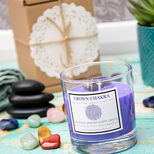 CROWN (Violet) CHAKRA Aromatherapy Candle