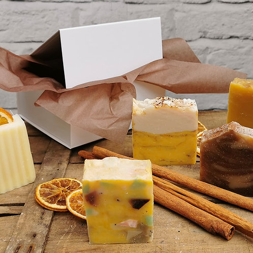 Autumn  Gift Set of 5 Natural Soaps in Magnetic Box