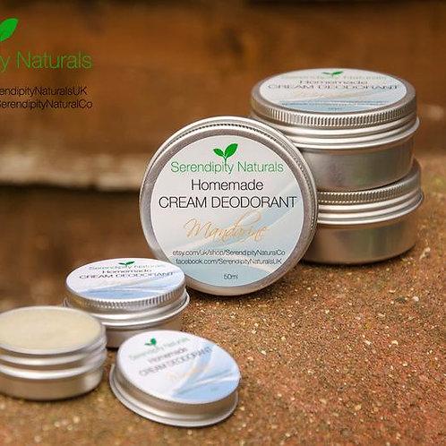 CREAM DEODORANT MANDARIN Homemade with 100% Natural Ingredients