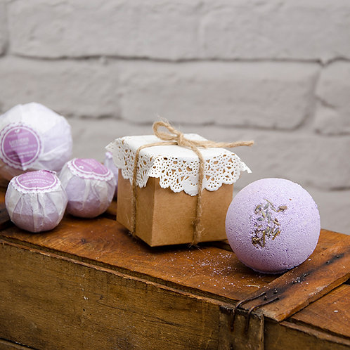 LAVENDER Bath Bombs Luxury Collection enriched with Organic oils and bu