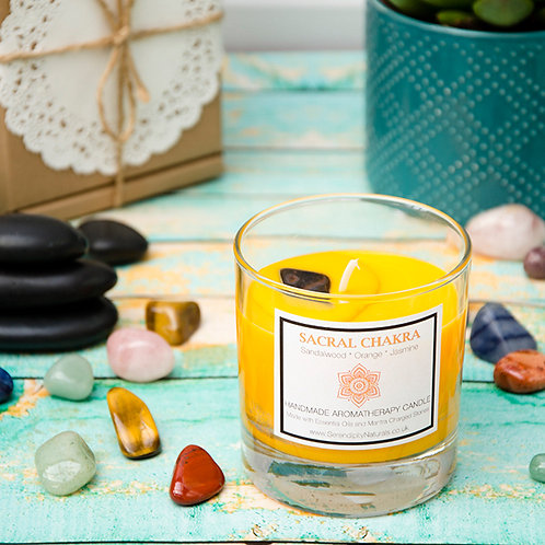 SACRAL (Orange) CHAKRA Aromatherapy Candle