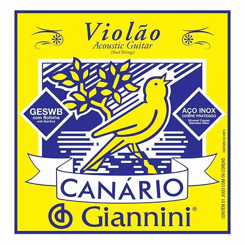 ENC. P/ VIOLAO AÇO CANARIO 0.11