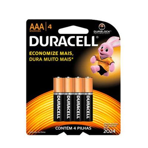 PILHA DURACELL C/4 AAA