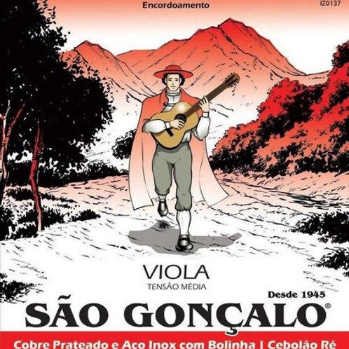 ENCORDOAMENTO P/ VIOLA CAIPIRA SÃO GONÇALO TENSÃO MÉDIA 10 CORDAS