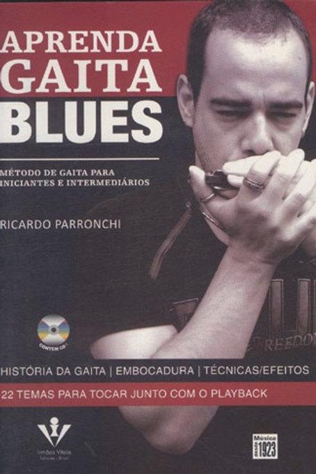 APRENDA GAITA BLUES - RICARDO PARRONCHI C/ CD