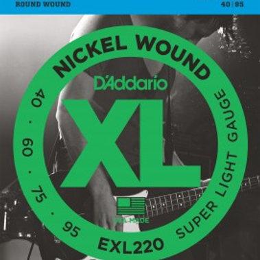 ENC. BAIXO D'ADDARIO EXL220 4 CORDAS