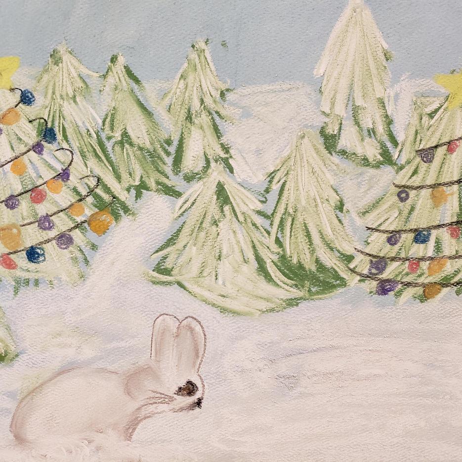 Winter Mountain Scene | Pastel | Sadie, Age 12