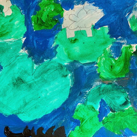 Water Lillies | Acrylic | Lucca, Age 9