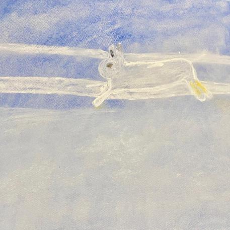 Winter Mountain Scene | Pastel | Lucca, Age 9