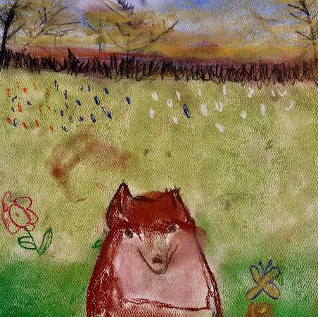 Foxes | Pastel | Eva, Age 8