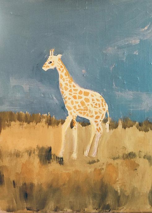 Giraffes:Acrylic:Val's Demo.jpeg