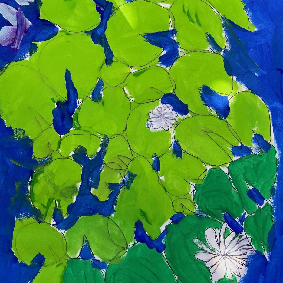 Water Lillies | Acrylic | Eva, Age 8