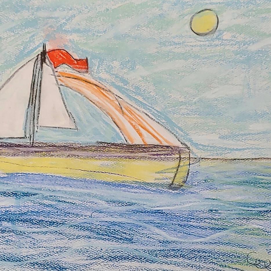 Sailboat | Pastel | Ella, Age 9