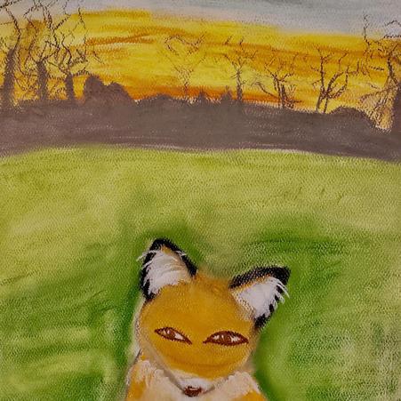 Foxes | Pastel | Sadie, Age 12