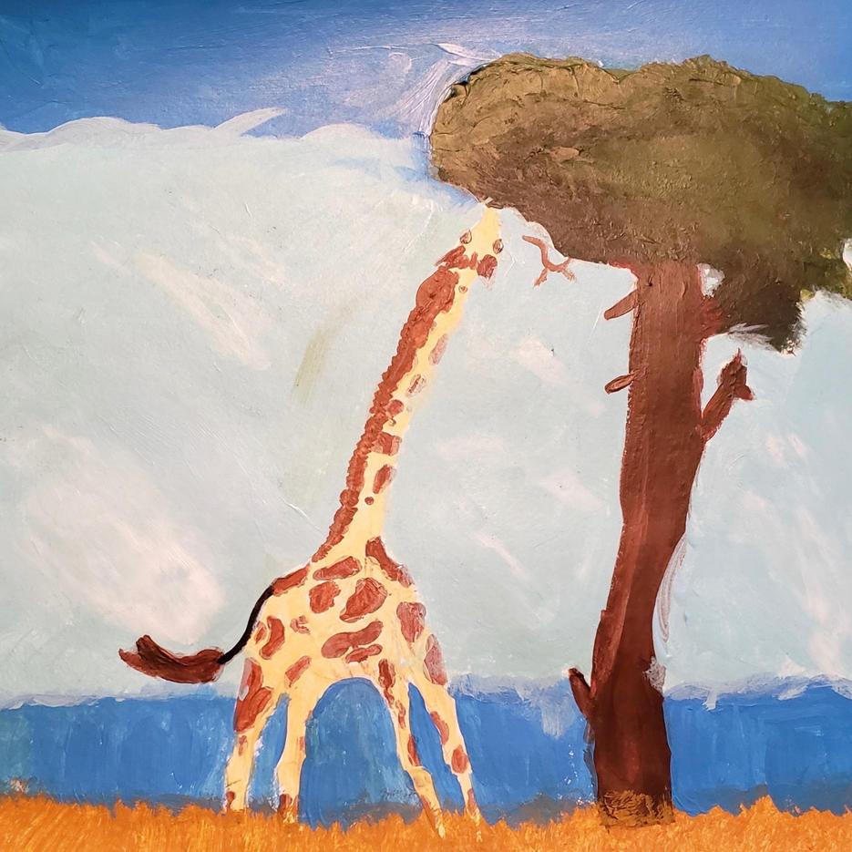 Giraffe | Acrylic | Sadie, Age 12