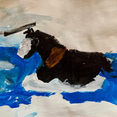 Swimming Horse | Acrylic
