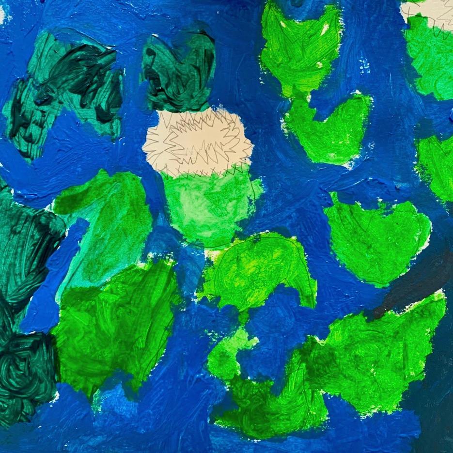 Water Lillies | Acrylic | Bella, Age 7