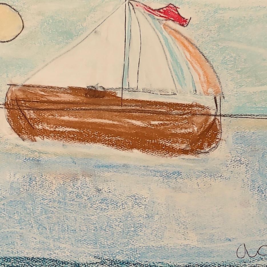 Sailboat | Pastel | Addie, Age 9