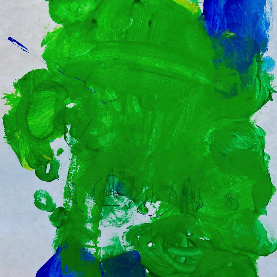 Water Lillies | Acrylic | Becket, Age 4