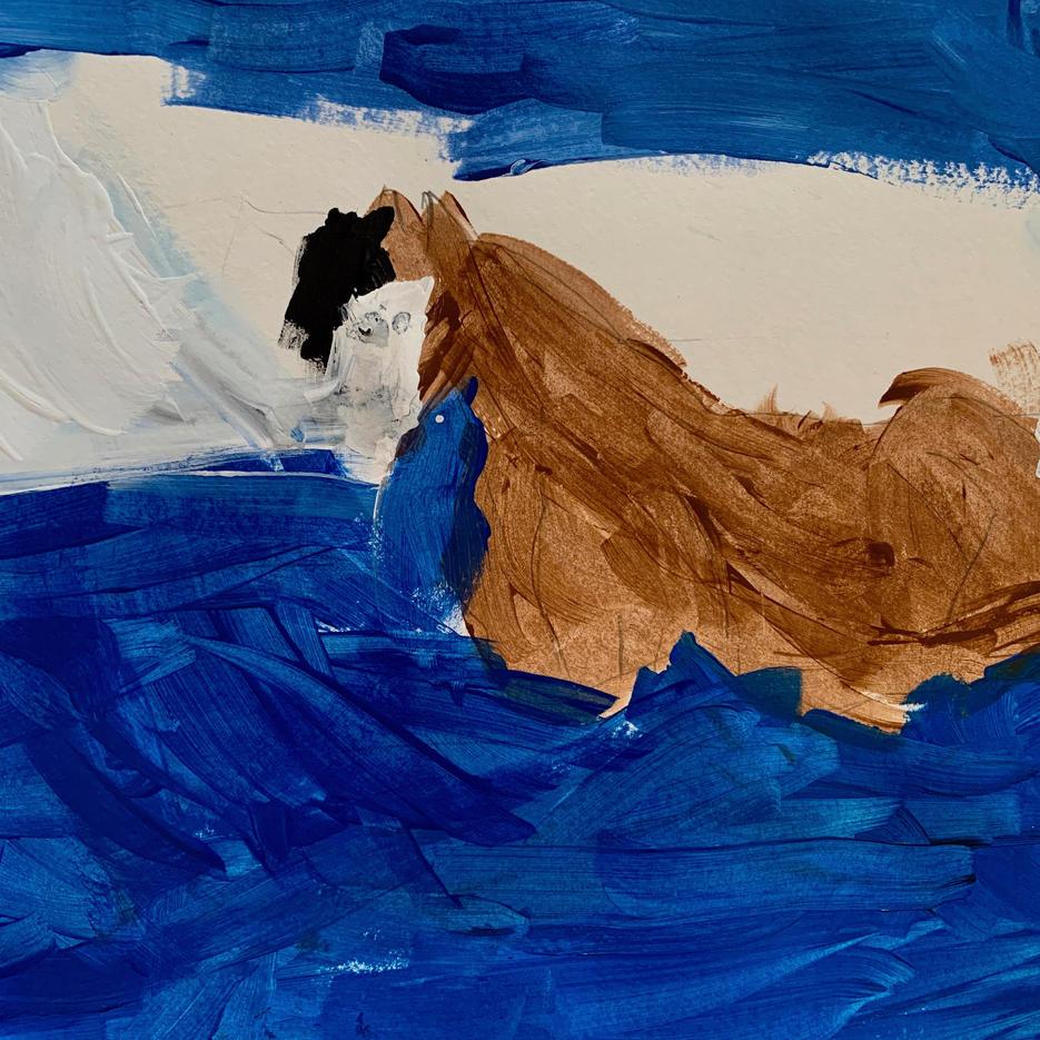 Horse in Ocean | Acrylic |