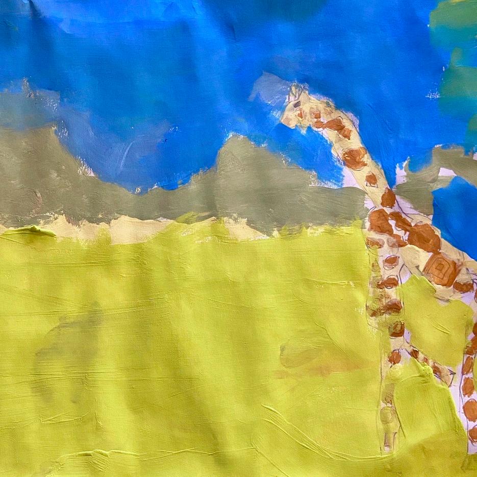 Giraffe | Acrylic | Eva, Age 8