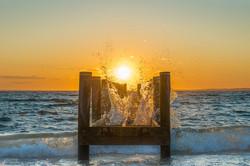 Sunset with a Splash