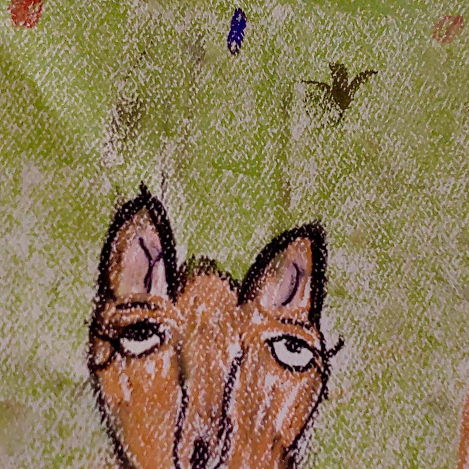 Foxes | Pastel | Addie, Age 9