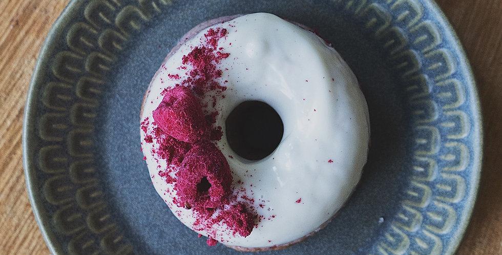 Raspberry & White Chocolate Donuts - Box of 6