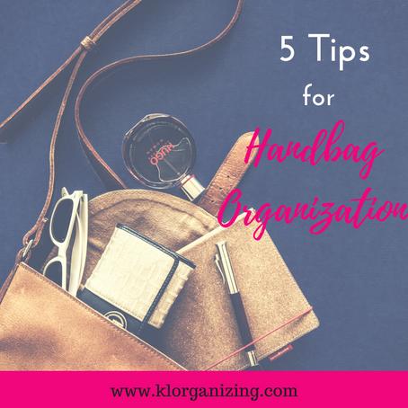 5 Tips to organize your handbag.