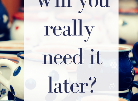 Let it go….but what if I need it later?