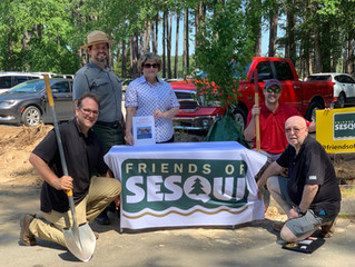 FRIENDS OF SESQUI DEDICATES FIVE RED MAPLES TO THE MIMOSA GARDEN CLUB OF COLUMBIA AT SESQUICENTENNIA