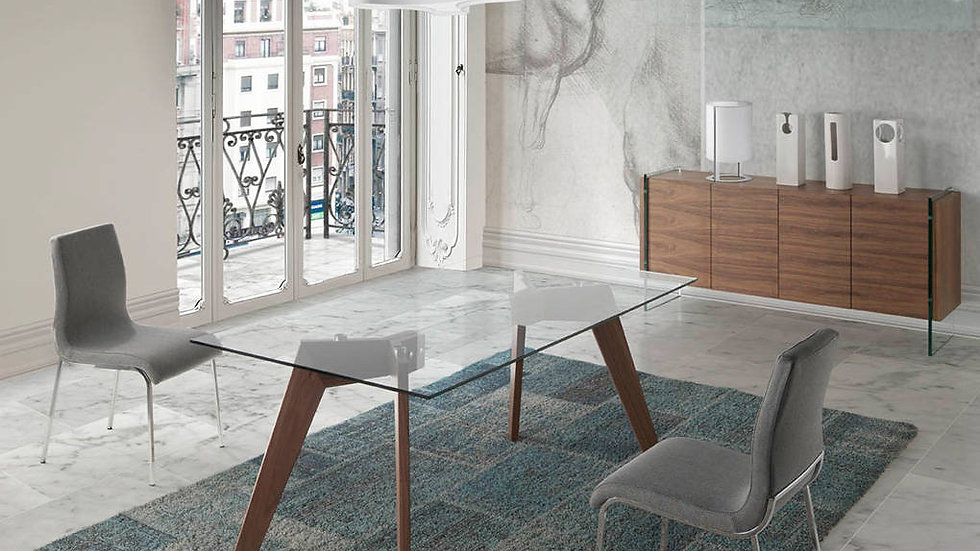 Mesa comedor rectangular cristal modelo 1031