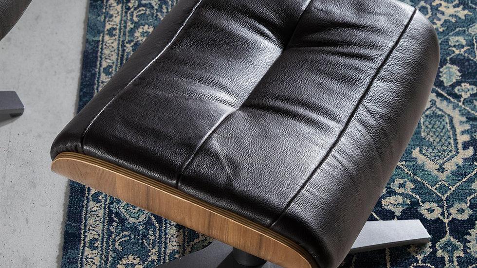 Ottomán giratorio tapizado piel vacuno marrón modelo 5035