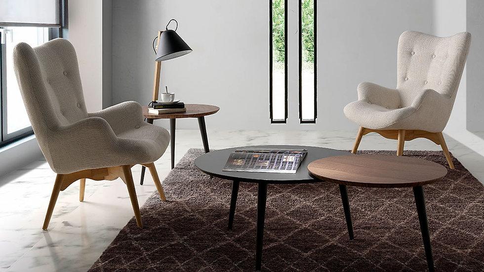 Sillón tapizado tela capitoné modelo 5023