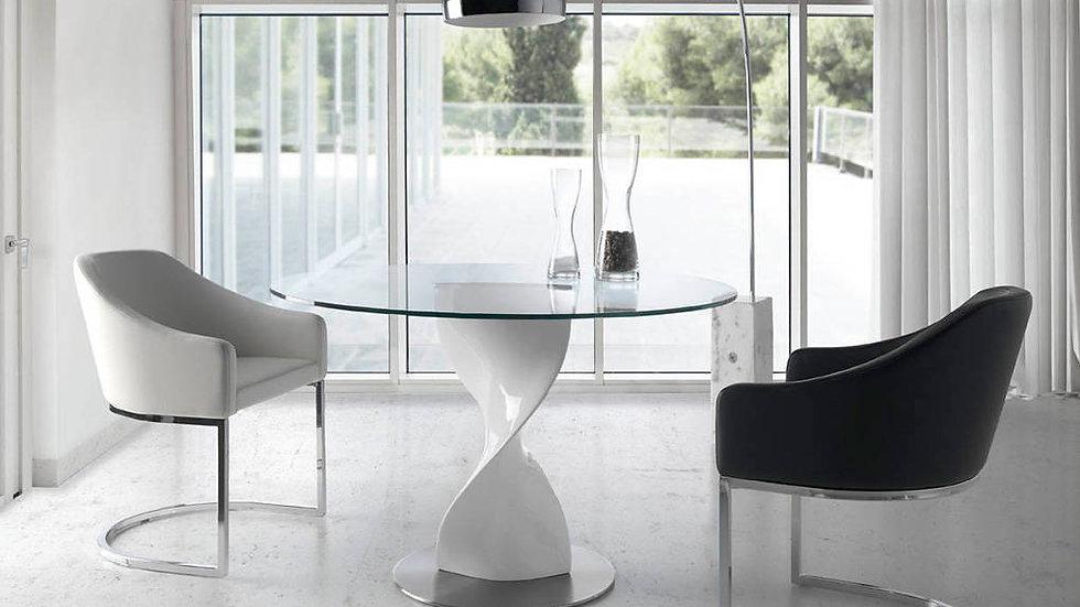 Mesa comedor redonda cristal modelo 1001