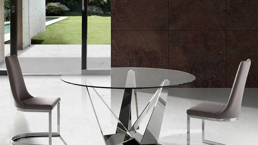 Mesa comedor redonda cristal modelo 1042