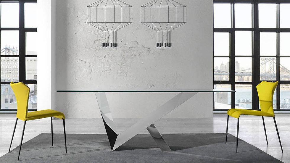 Mesa comedor rectangular cristal modelo 1038